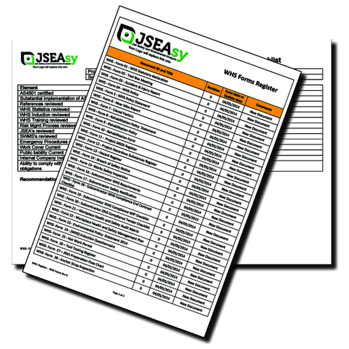 Subcontractor WHS Compliance Tender Checklist