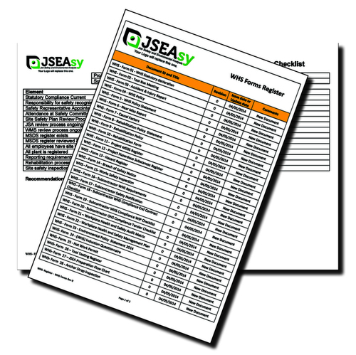 Subcontractor WHS Compliance WIP Checklist